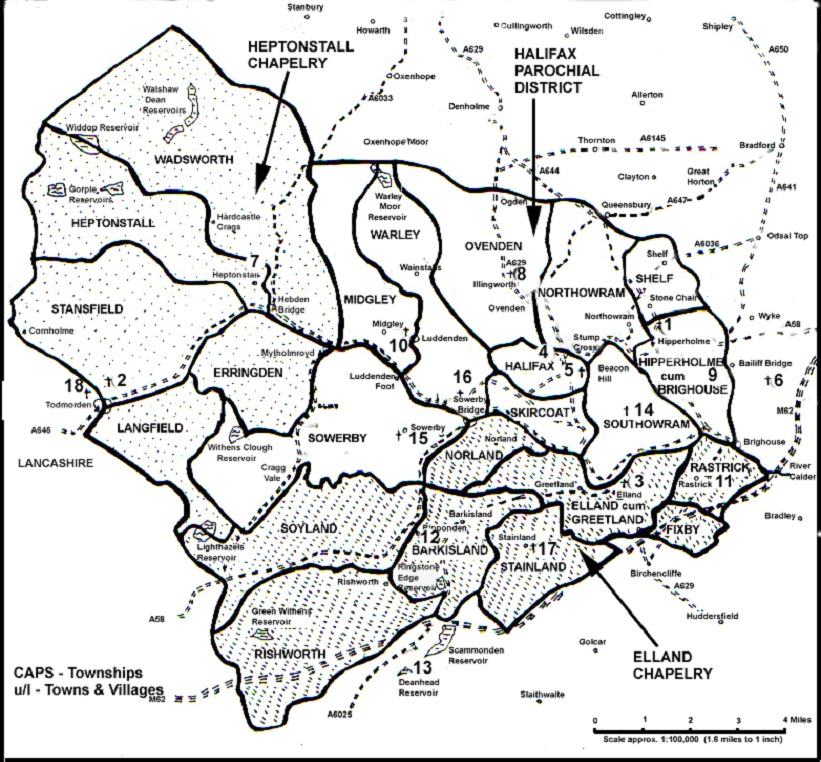 Calderdale FHS Area Map